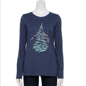 💕Women's Sonoma Goods Holiday Tee Shirt